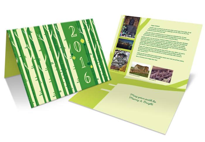 Holiday card design for Guidepost Financial Planning