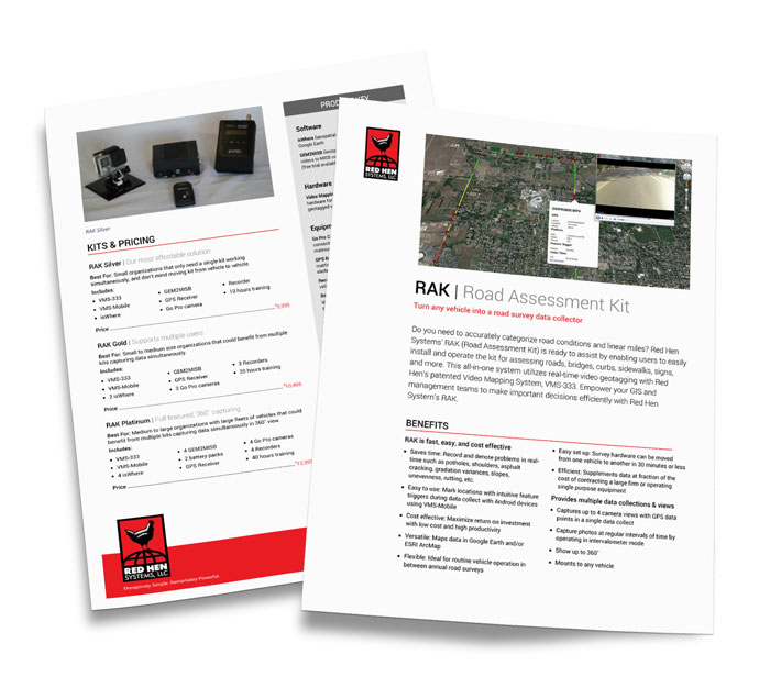 One Sheet template design for Red Hen Systems