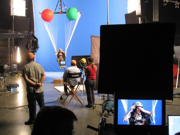 Making actors fly with balloons