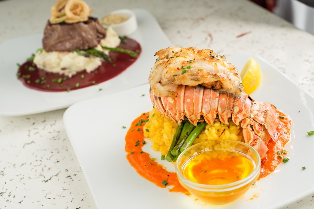 Bagatelle lunch and dinner, grilled lobster tail entree