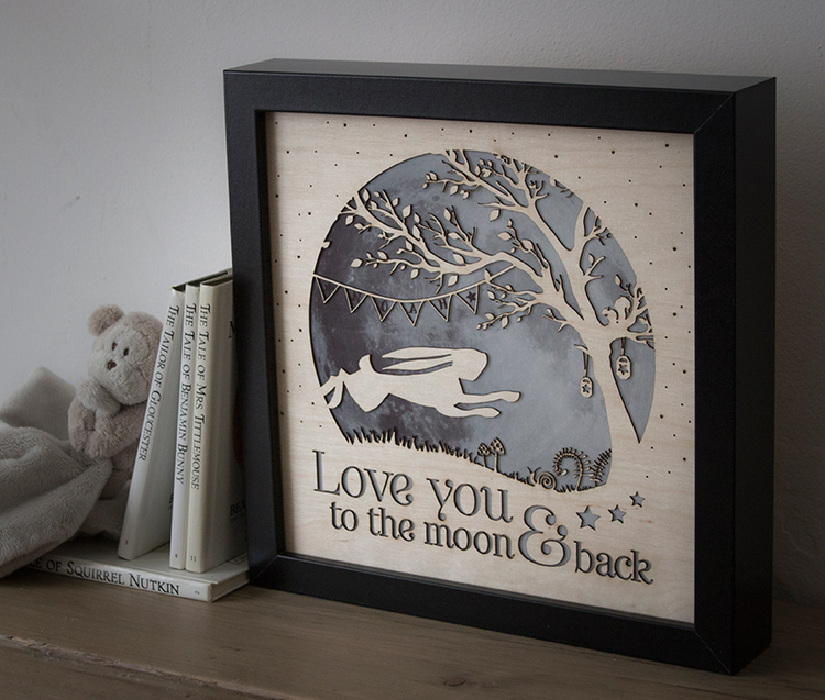 love you to the moon and back lamp