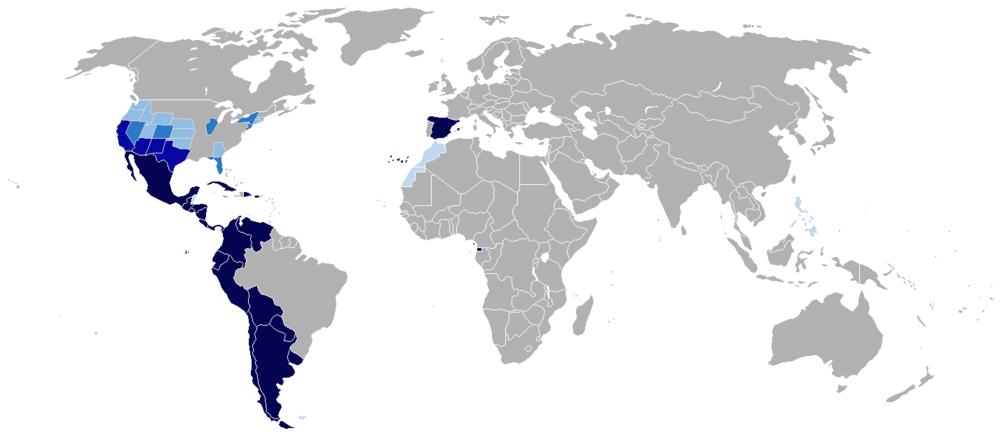 Países hispanohablantes en el mundo