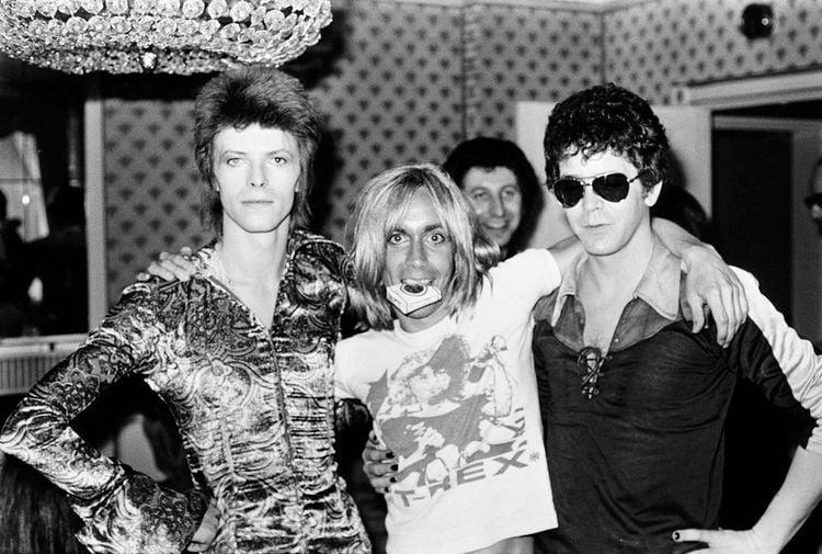 David Bowie, Iggy Pop y Lou Reed