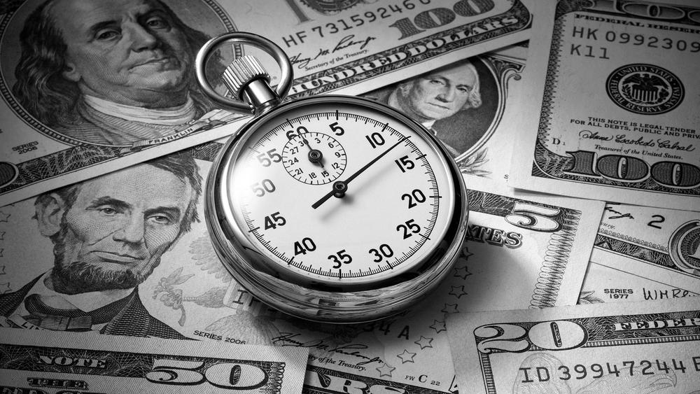 Aún cuando no trabajamos, el Tiempo es Dinero.