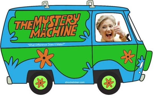 Hillary Clinton wheeling around Iowa in her Scooby van is just the tip of the satirical iceberg for the latest bumper crop of presidential wannabes.