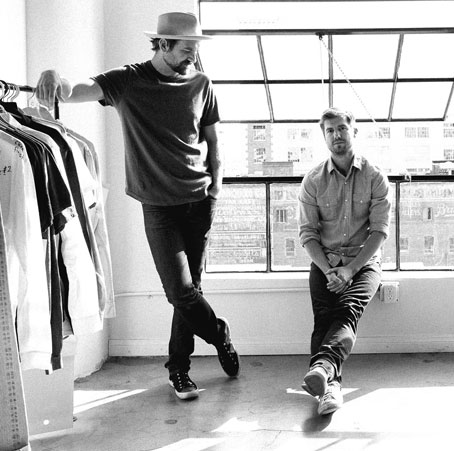 Buck Mason founders Erik Schnakenberg and Sasha Koehn are committed to crafting clothing that outlives trends, weathers use and wears true-to-character.