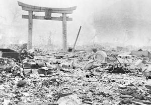 Hiroshima in the aftermath of the world's first atomic bomb deployed in combat on Aug. 6, 1945. The blast instantly killed about 80,000 people, wiping 90 percent of the city's population.