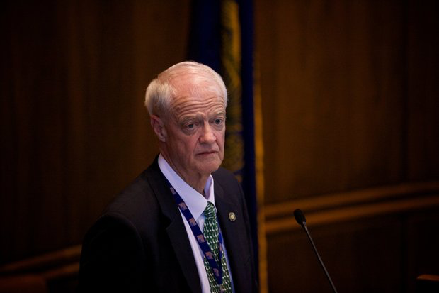 "Senate President Peter Courtney helped to convince Oregonians to approve annual sessions and now presides over a 35-day session packed with legislative ""emergencies."""