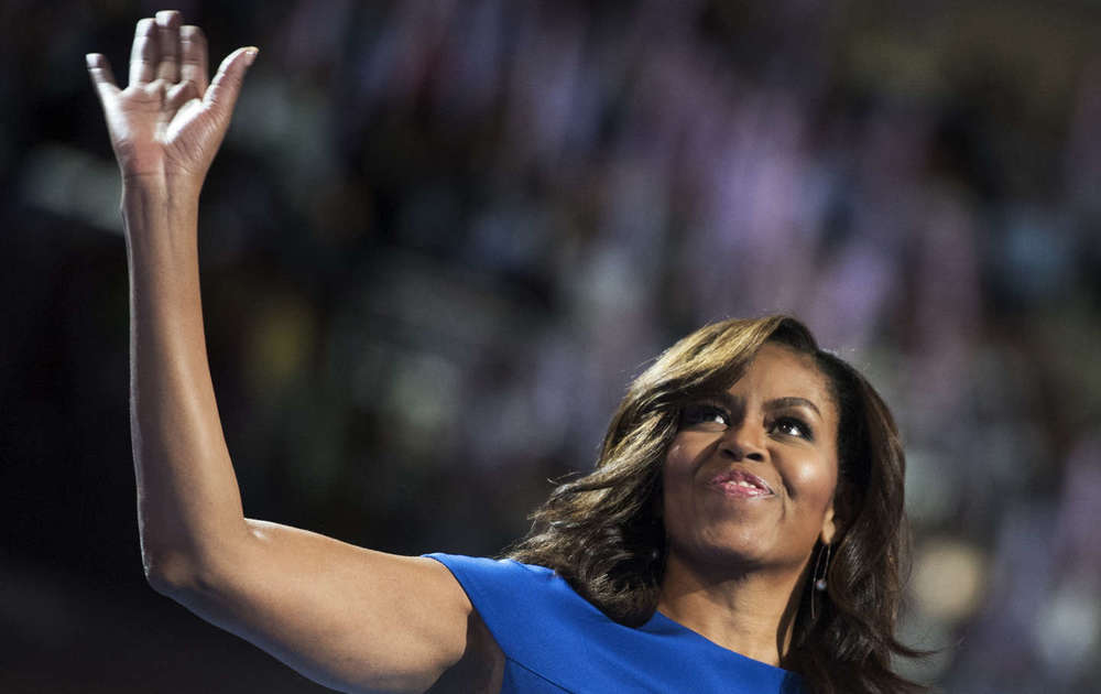 (Photo Credit: AP Photo/Tom Williams) First Lady Michelle Obama gave a breakthrough speech at the 2016 Democratic National Convention that was beautifully crafted, delivered with polish and resonated far beyond the political battlefield for the presidency.