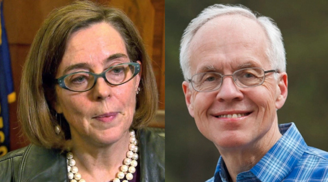 GOP gubernatorial candidate Bud Pierce jettisoned his endorsement of Donald Trump on the run-up to this Saturday's first debate with Governor Kate Brown in Bend. Four more debates will follow into mid-October.