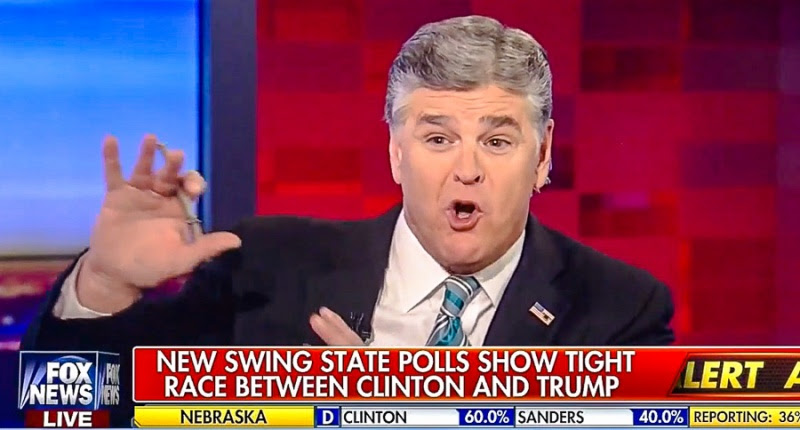 Fox News reportedly reprimanded Sean Hannity for citing inaccurate online polls as evidence GOP nominee prevailed inMonday night's first presidential debate over Democrat Hillary Clinton.