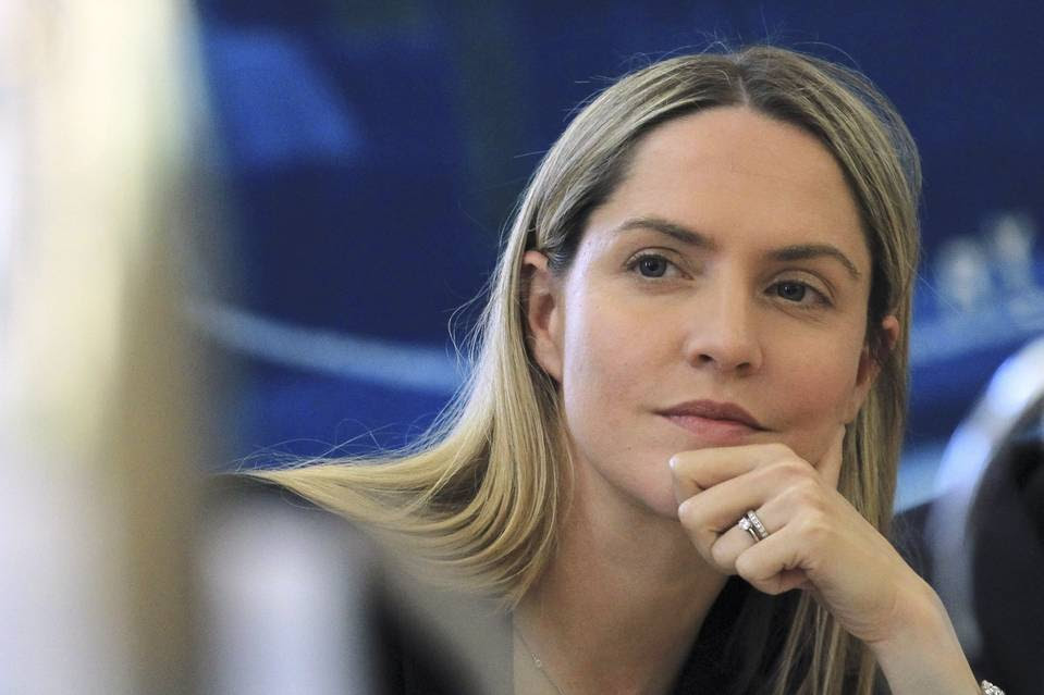Louise Mensch, a former member of the British Parliament who started an American digital outlet aimed at conservative audiences, appears to be the original source of the story that morphed into President Trump's tweet storm about alleged wiretapping by his predecessor.  Photo Credit: Olivia Harris/Reuters