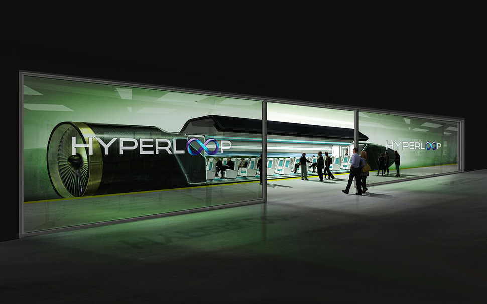 One of the four funding pots in the Trump package would invest in innovative transportation projects such as Elon Musk's proposed hyperloop subsonic train.