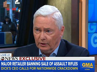 Edward Stack, CEO of Dick's Sporting Goods, set the tone by unilaterally deciding to stop the sale of assault rifles and raising the age to purchase a gun to 21 years old. Others followed his example.