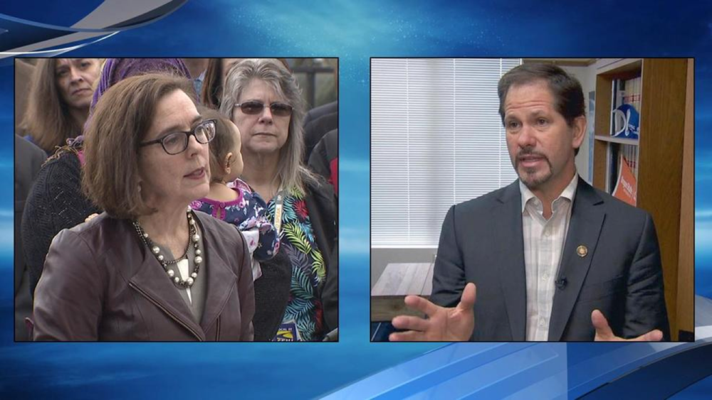 "State Rep. Knute Buehler overcame more conservative GOP candidates to win the right to challenge incumbent Democratic Governor Kate Brown this fall in what could emerge as a marquee matchup this fall when a ""Blue Wave"" is anticipated nationally in the mid-term election after Donald Trump's captured the White House in 2016."