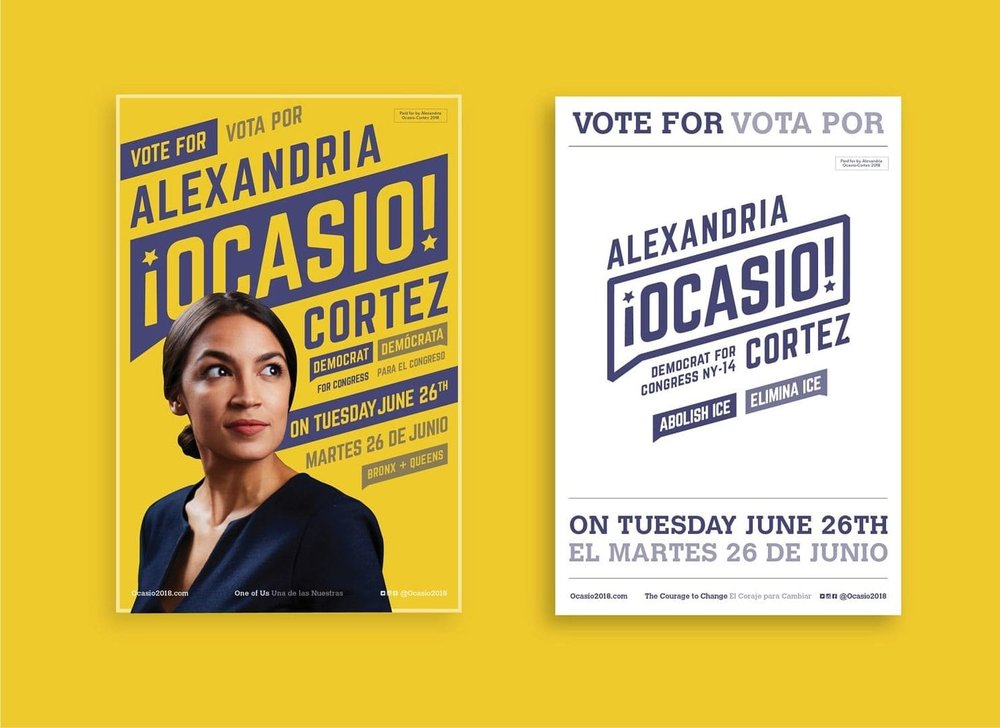 Alexandria Ocasio-Cortez scored an upset victory in a New York congressional primary through effective personal branding that included a 2-minute video, retro posters and savvy social media.