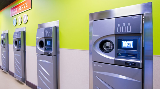 Oregon is moving toward regional beverage container redemption centers that feature units capable of accepting aluminum cans and glass and plastic bottles.