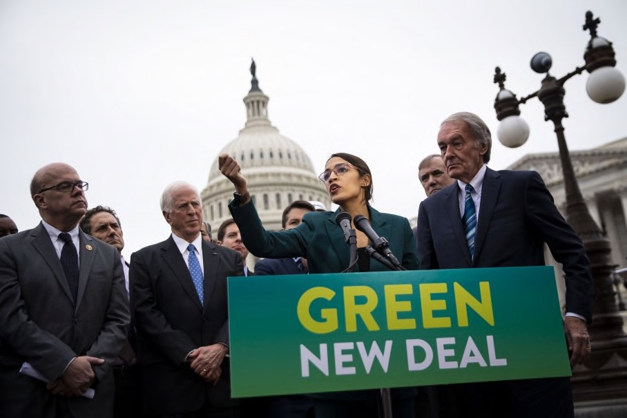 The optics were unmistakable. A 29-year-old freshman member of Congress was a leading voice at the introduction of the Green New Deal resolution, which has little chance of passage, but presages an important political moment when the fears and wishes of a younger generation push up against the pessimism and patronization of an older generation in politics.