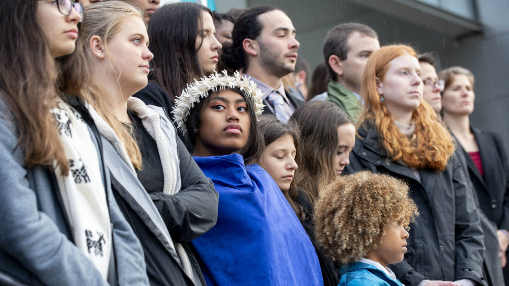 "A group of 21 young plaintiffs, 11 of them from Oregon, are challenging the federal government to take responsibility for a ""climate system capable of sustaining human life."" Their lawsuit has so far withstood five attempts to bock or dismiss it. They are inching closer to an actual trial that could prove a turning point on public acceptance of climate change and the urgent need for a credible response. [Photo Credit: Robin Loznak/ZUMA]"