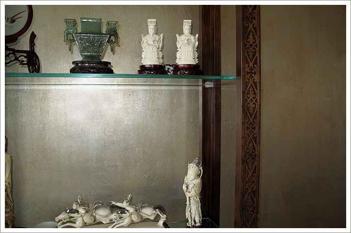Antique Silver: Gilding project. Private residence. NYC.  Designer: Yaelle Yoran-Wastin.