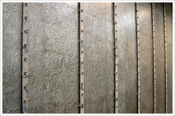 Pewter Damask: Urban Outfitter's store. Chicago, IL.