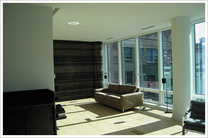 Geometric Design: Venetian Plaster. Private residence in the Astor Place Building, NYC