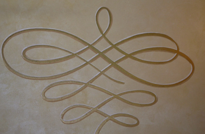 Arabesque motif on canvas. Hilton Avenue of the America's Main Hall. NYC