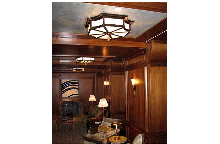 Faux Bois y Faux parchment. Library at 15 Central Park West, NYC.  Designed by: Robert A.M Stern Interiors.  Link