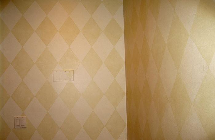 Diamonds: Tone on tone glazing technique. Private residence, Scarsdale, NY. Designer: Marcia Ferber.