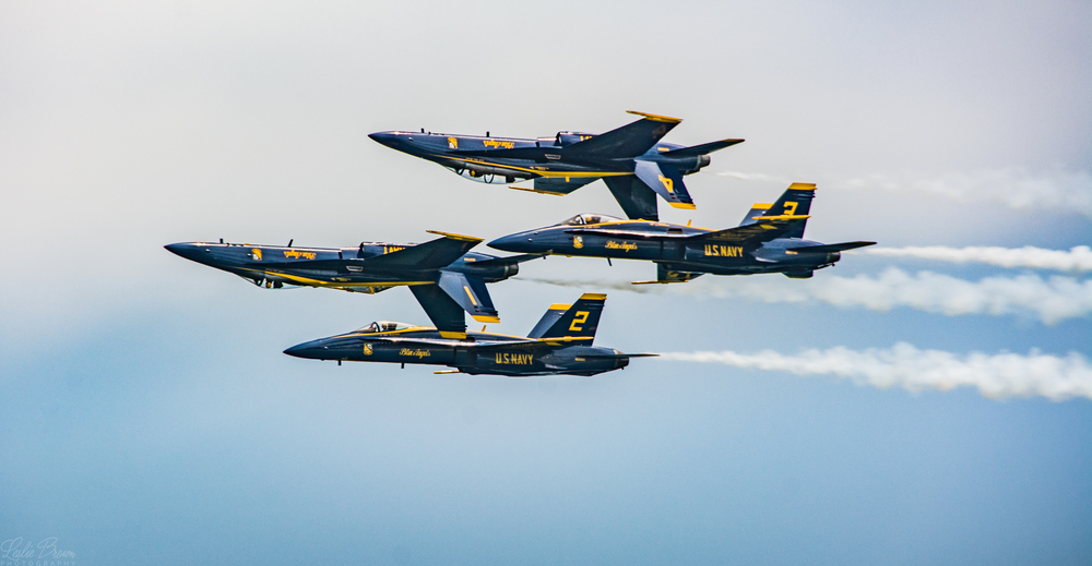 Blue Angels Upside Down - Leslie Brown
