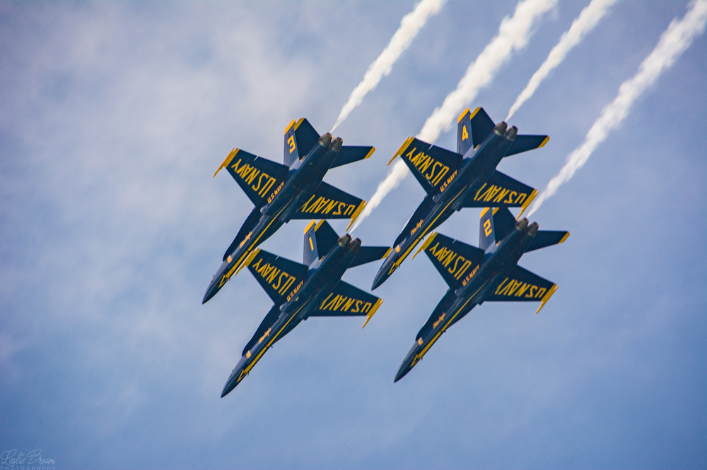 Blue Angels Close In - Leslie Brown