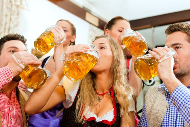 peeps drinking beer