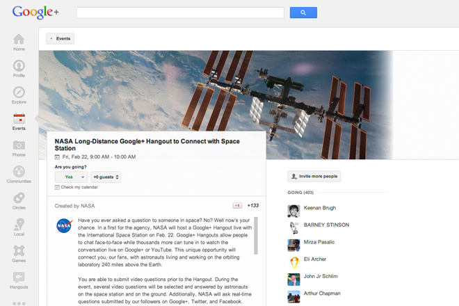 NASA Google+ Hangout