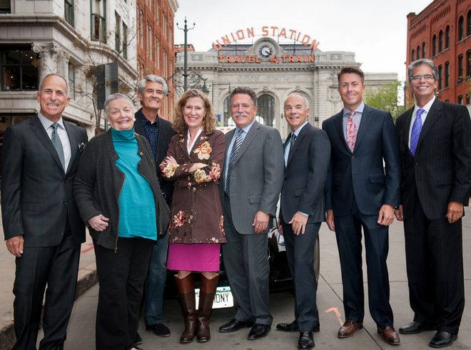 Chad McKinney, (second from right) is pictured with the Union Station Alliance which includes; Larimer Associates, Sage Hospitality, and Dana Crawford