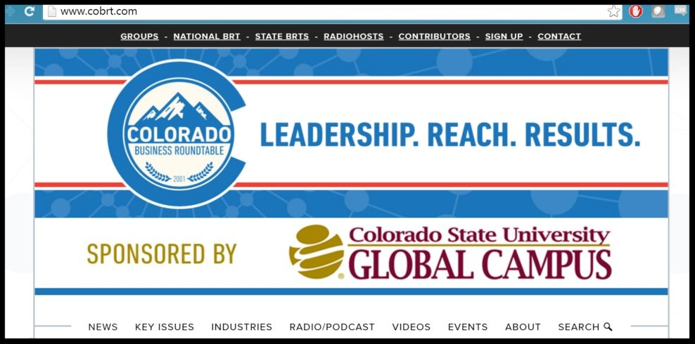 A screenshot of the CSU-Global banner on COBRT.com