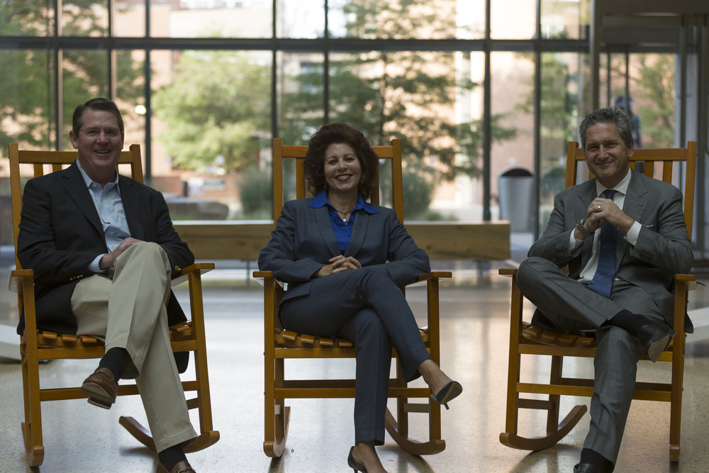 Pictured left to right: John Hayes, Jaque Hinman, Mike Fries