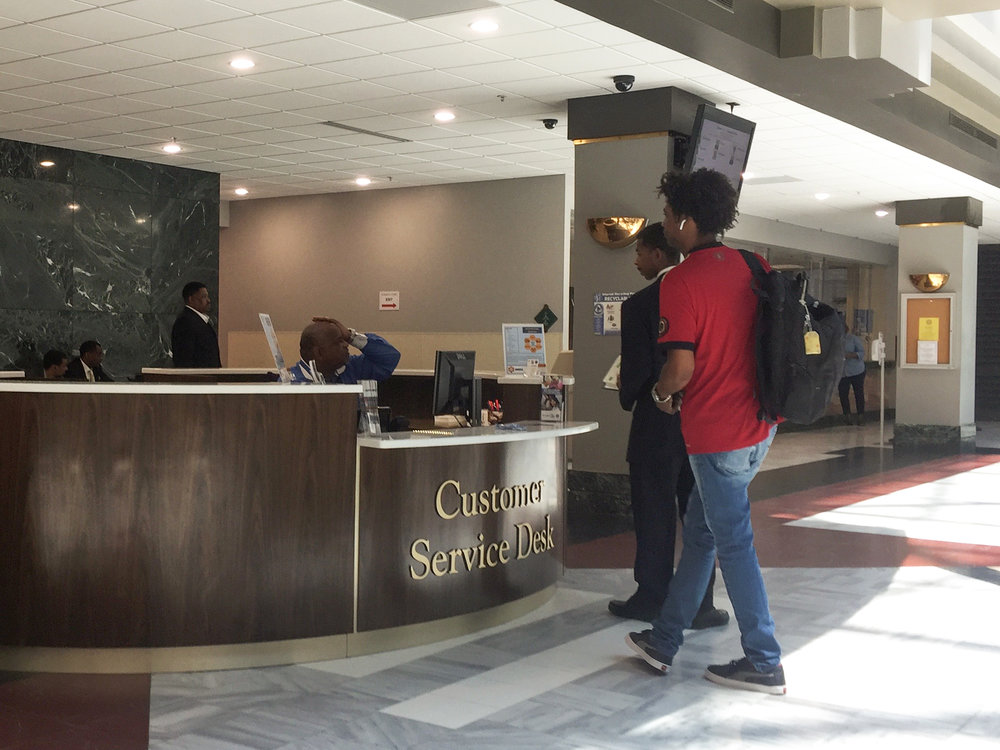 The City Hall Customer Service Desk