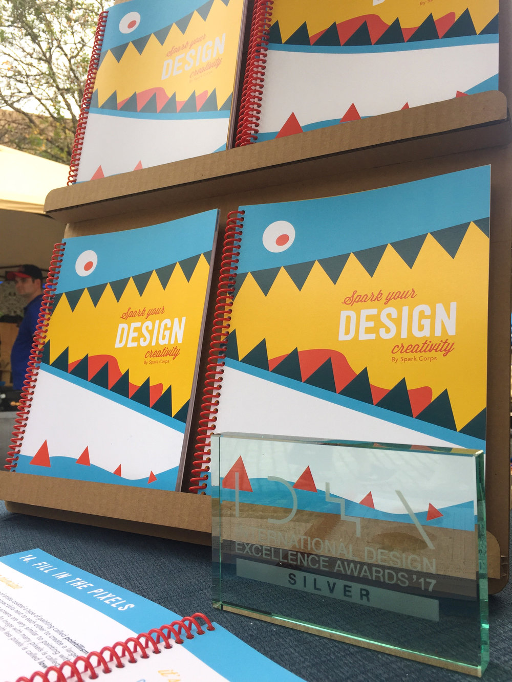 The Spark Your Design Creativity display featuring our silver  IDEA award