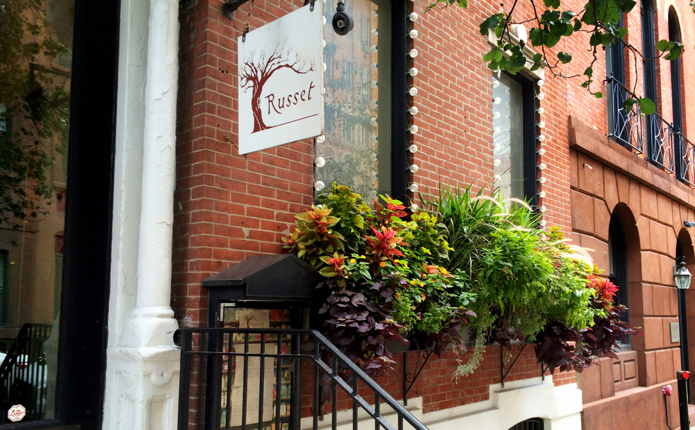 Gigantic, 12' window box greets visitors to Philadelphia's premier farm to table restaurant, Russet