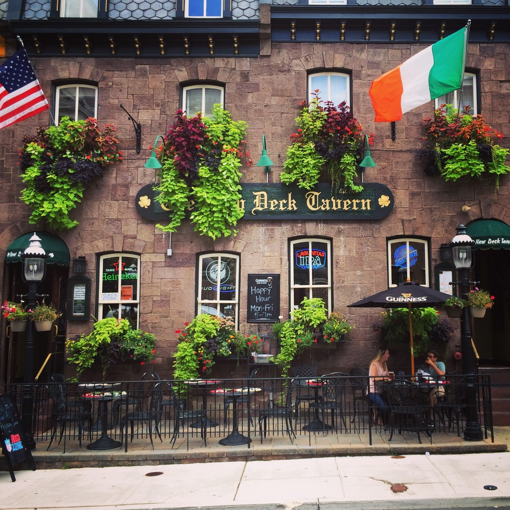 New Deck Tavern gets the Enliven makeover with 16 full-sized window boxes in University City, Philadelphia
