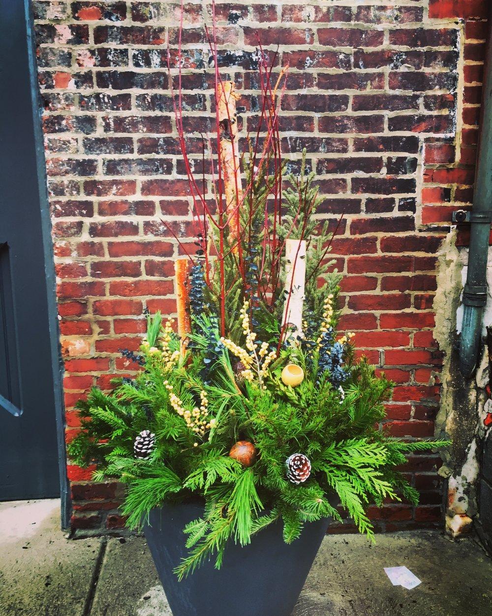 holiday planters in philadelphia