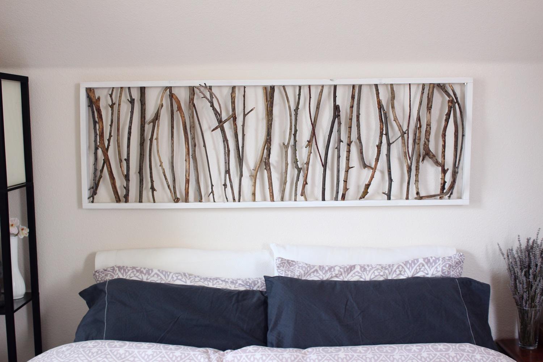 DIY Branch Art Headboard — emorie kidder