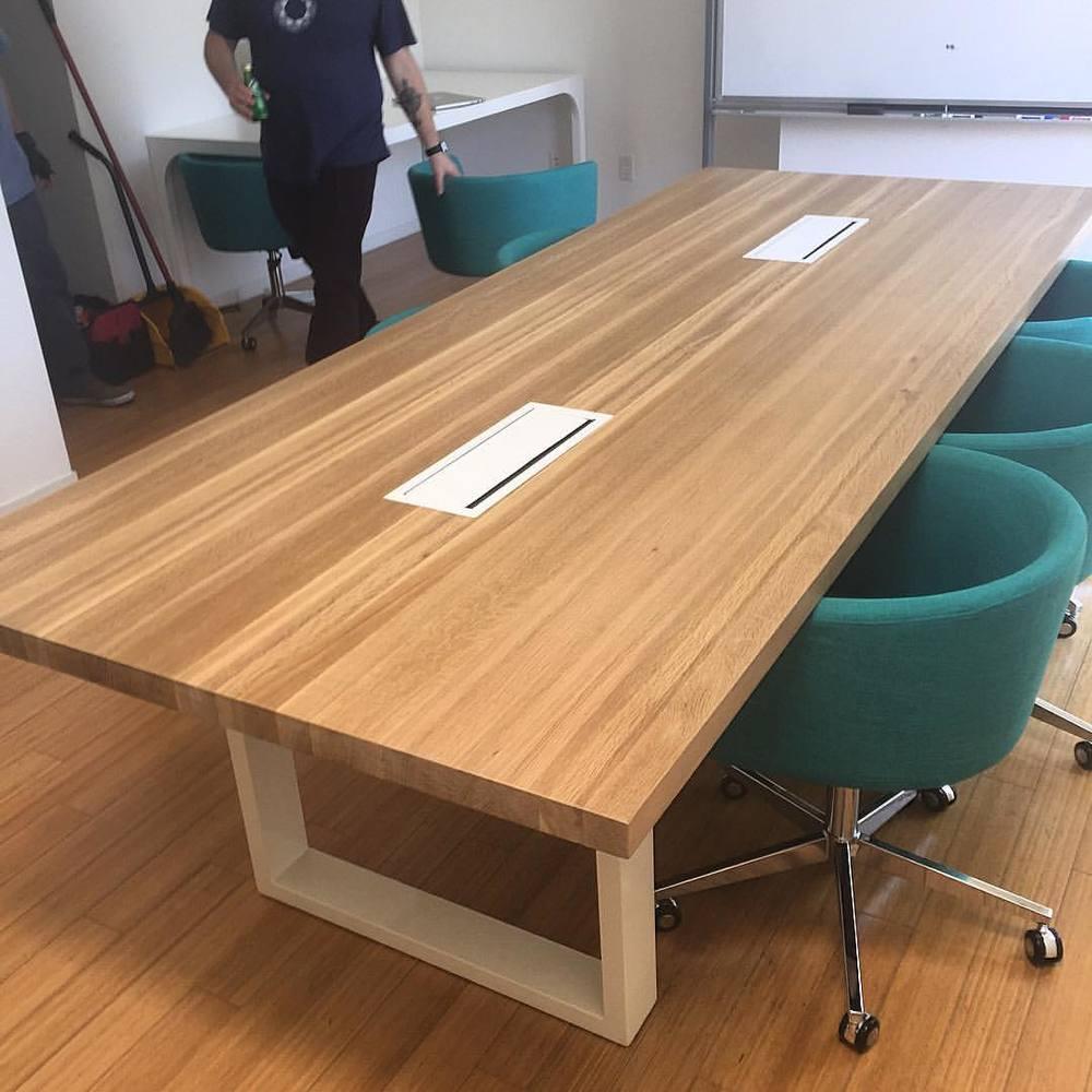 Modern Oak Conference Table