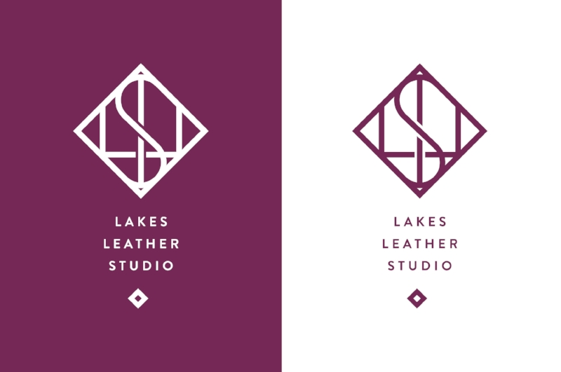 Lakes Leather Studio branding