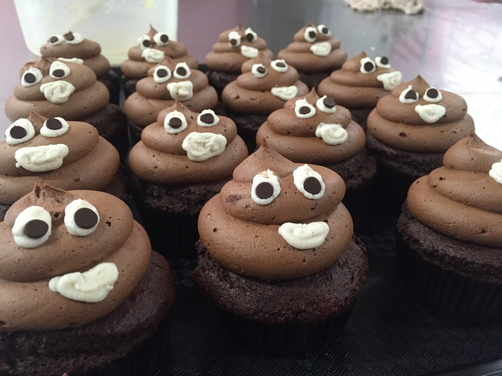 The Poop Emoji Cupcake! Double the chocolate and triple the laughs.