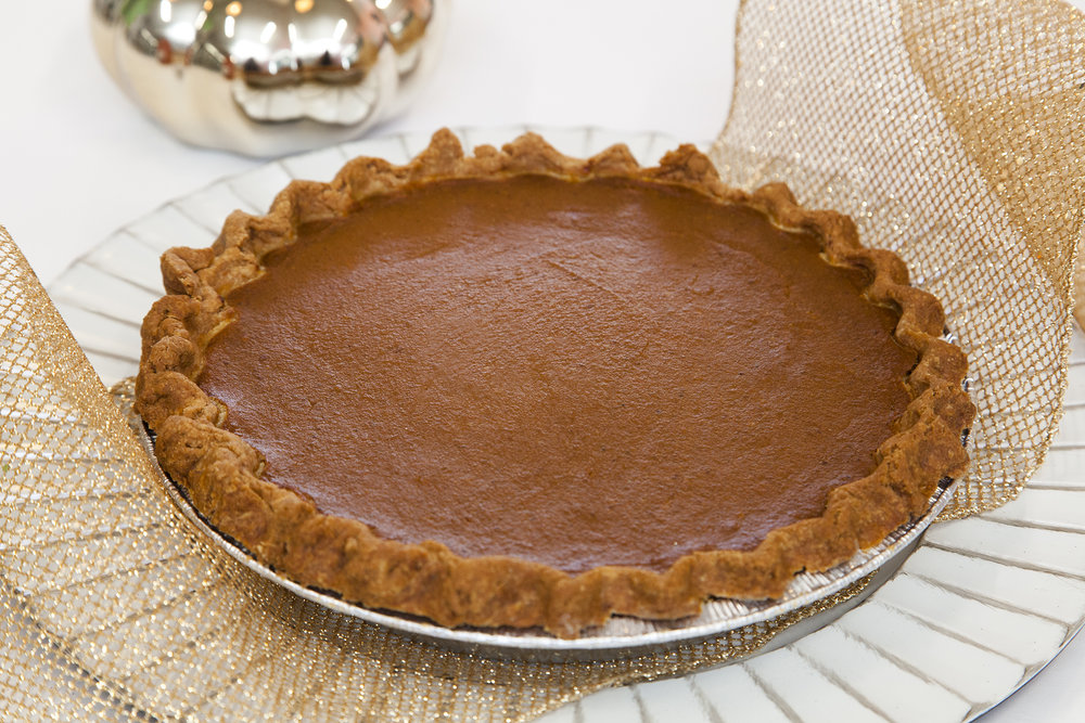Bunner's classic Pumpkin PIe  is a guaranteed hit for your upcoming Thanksgiving celebration. Creamy, spicy, baked to perfection - by far and wide this is our most popular item on the Thanksgiving Menu!   Allergens: Soy