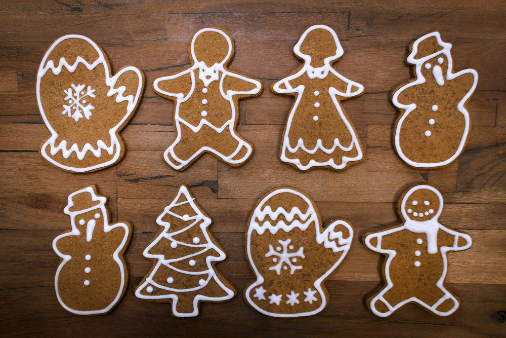 Gingerbread Peeps  - Warm & spicy! Beautifully decorated classic gingerbread cookies for all the good boys and girls of the world who made the 'nice' list.