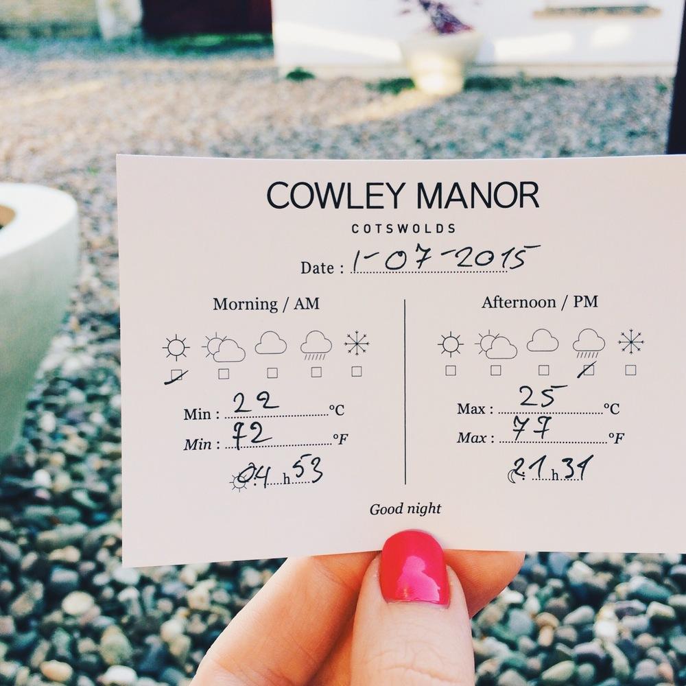 baby friendly getaways - cowley manor