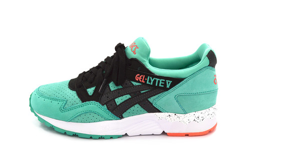 Asics gel lyte v Miami pack £99 These are nice. Another summer kick I feel. The combo of the splatters on the mid-sole and the turquoise suede and silk tongue with hints of coral had me swooning. They also come in coral, so y'know a couple good options there  CLICK TO BUY IN TURQUOISE