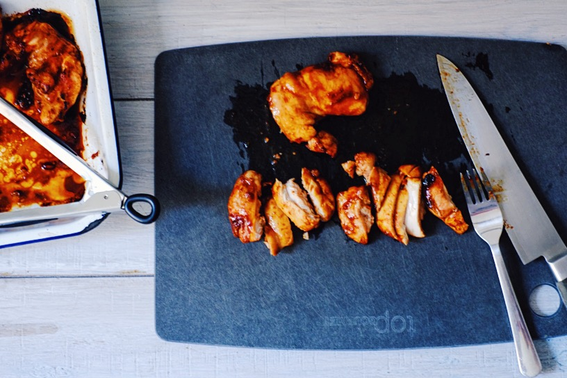 sticky chicken with kidchup | www.millycundall.com